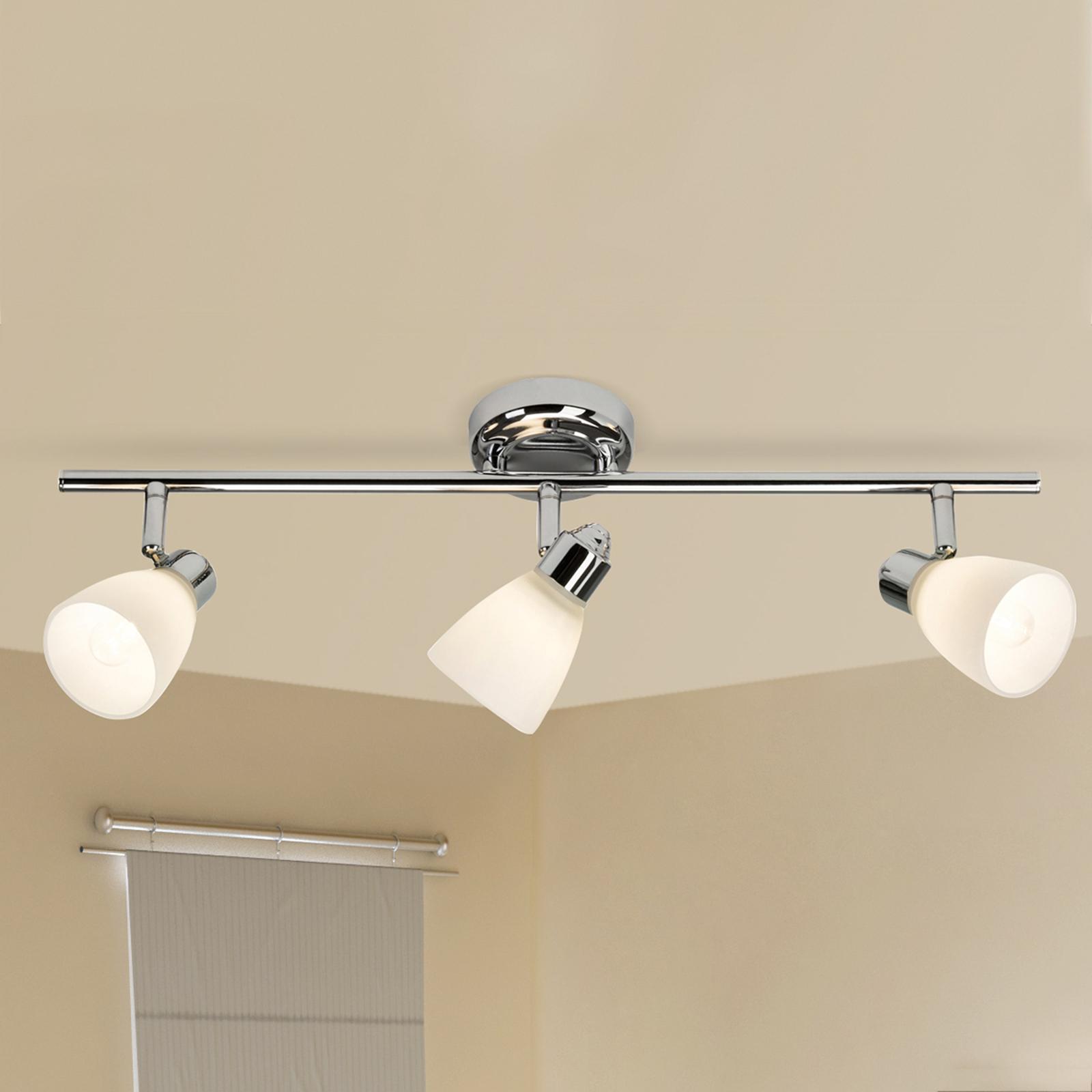 Lámpara de techo Kensington 3 brazos con IP44