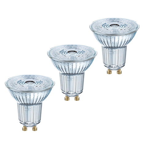 Lampadina LED a riflettore GU10 4,3W, set da 3