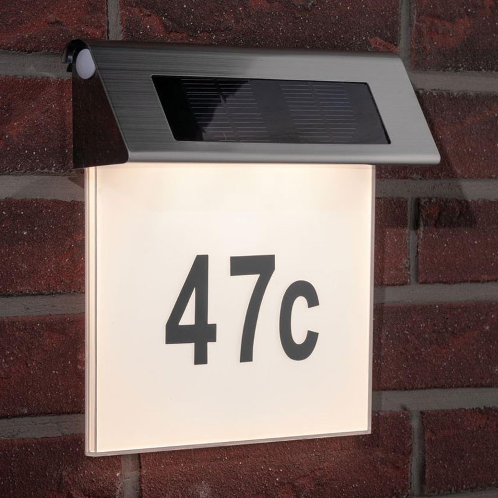 Paulmann soldriven husnummerlampa med LED, IP44