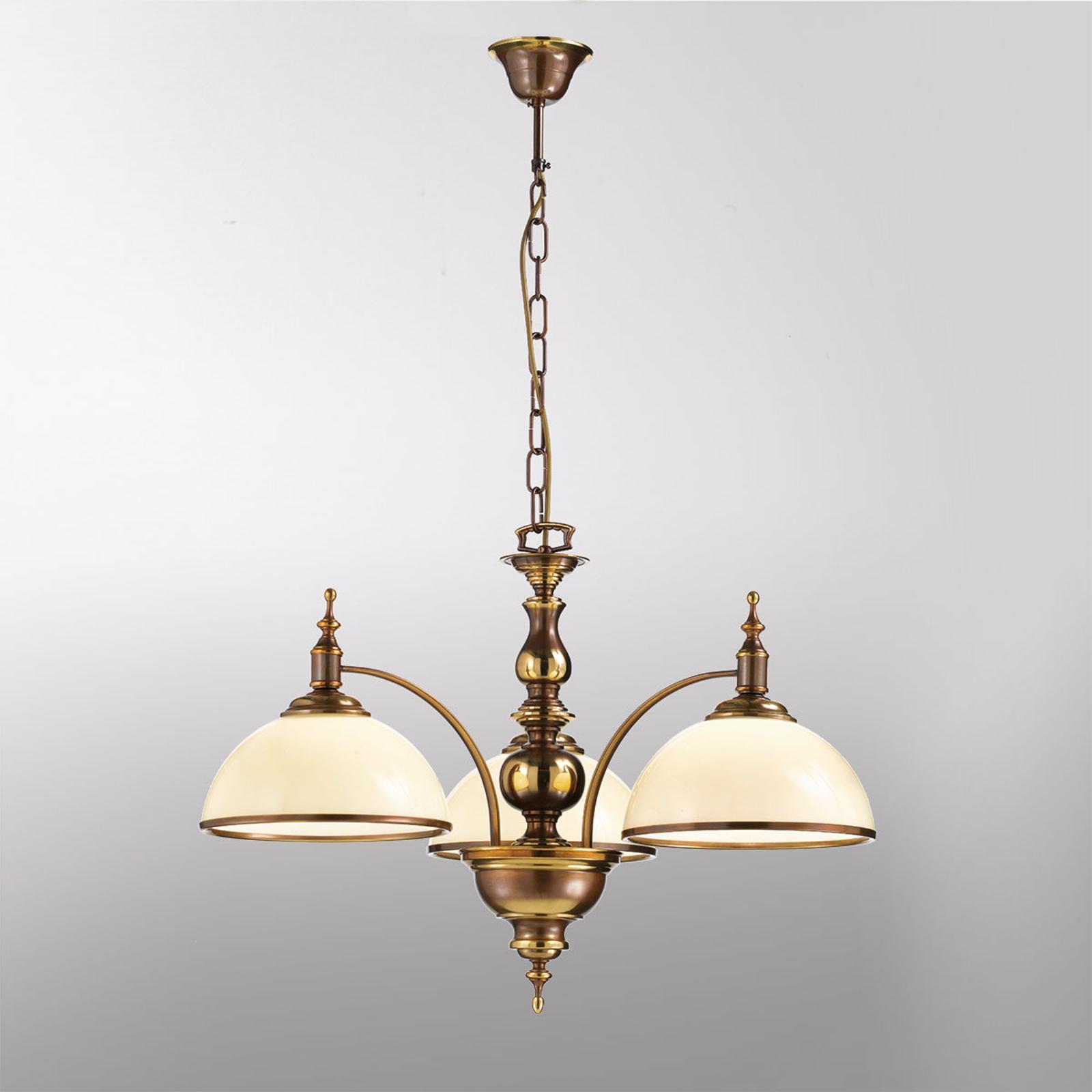 Lámpara colgante de efecto antiguo Corola, 3 luces