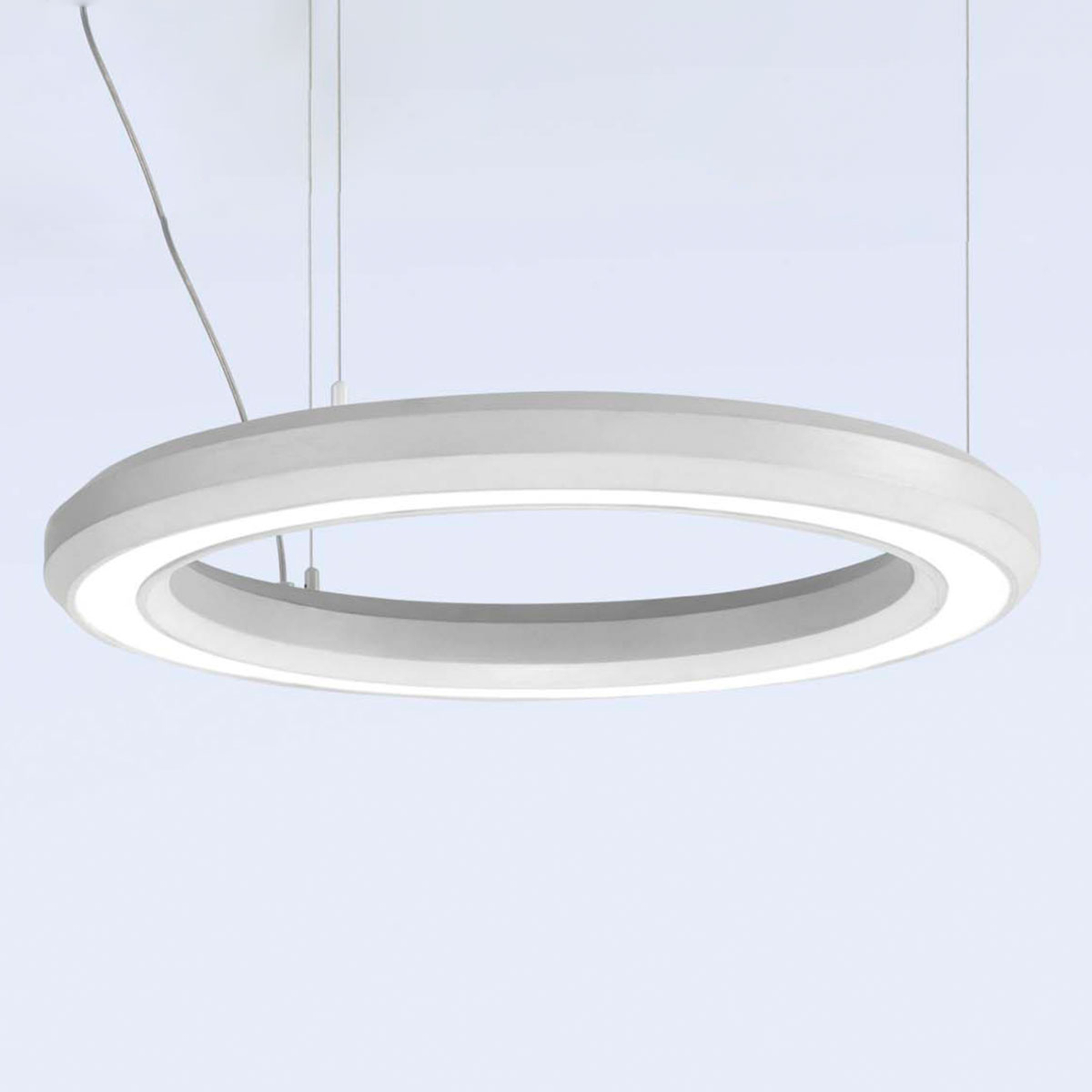 Lampa wisząca LED Materica dolna Ø 60cm biała
