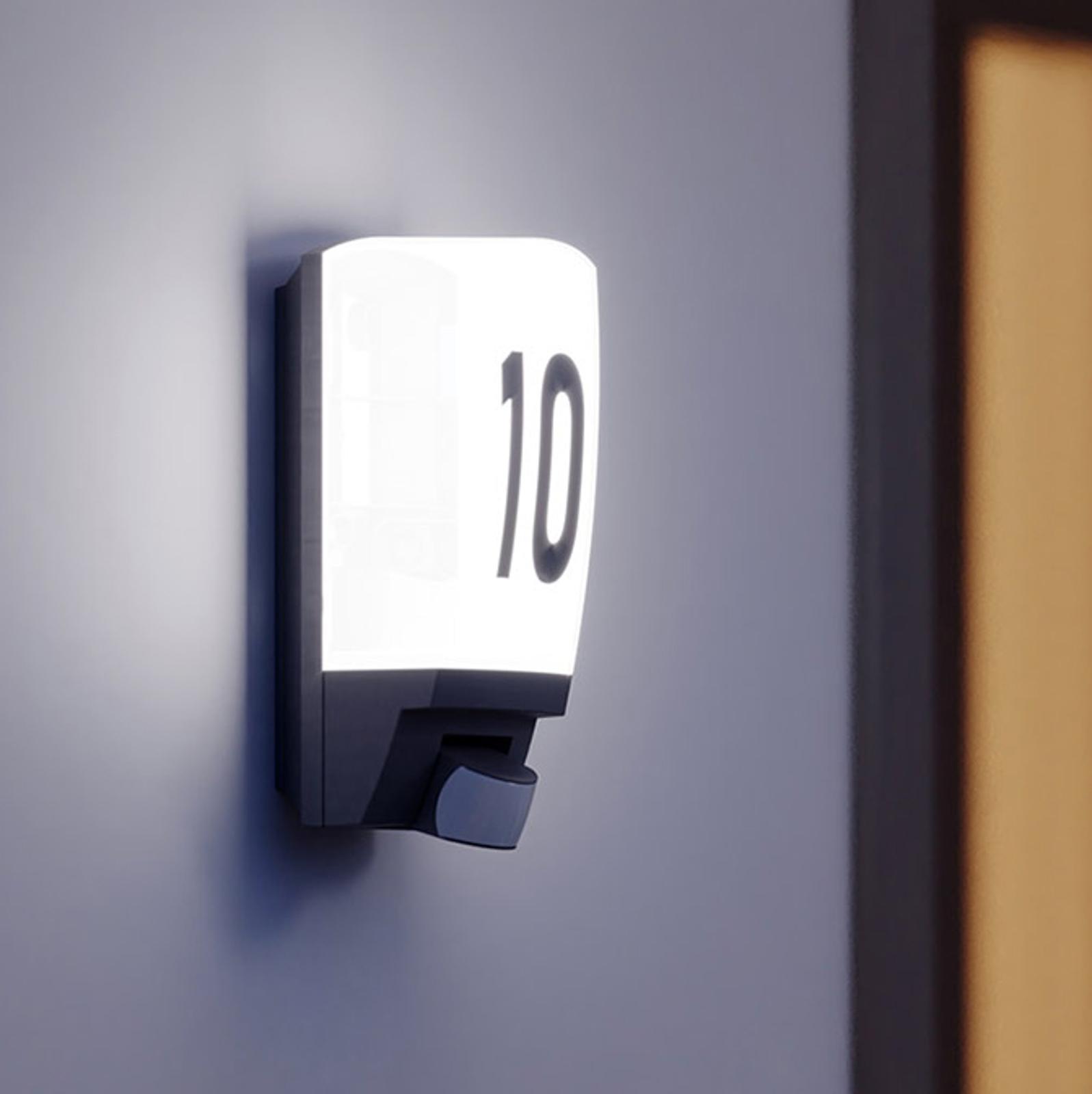 STEINEL L 1 - Hausnummernleuchte m. Sensor weiß