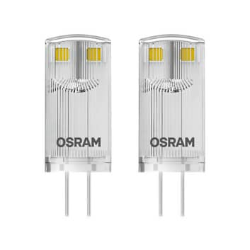 Kaksikantainen LED-lamppu G4 0,9W 827, 2 kpl