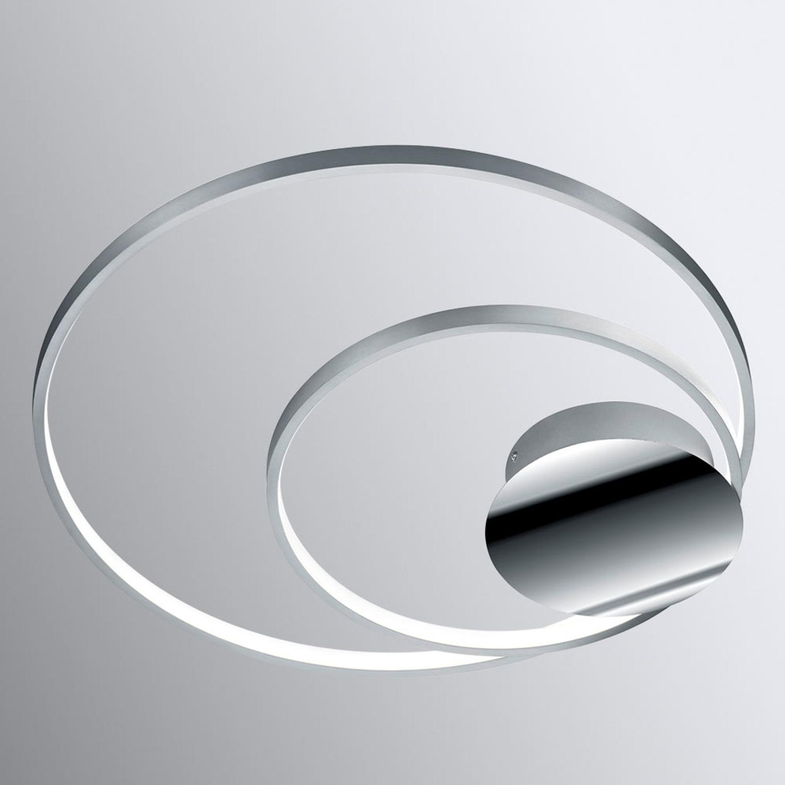 aluminium lampen weiss wand oval