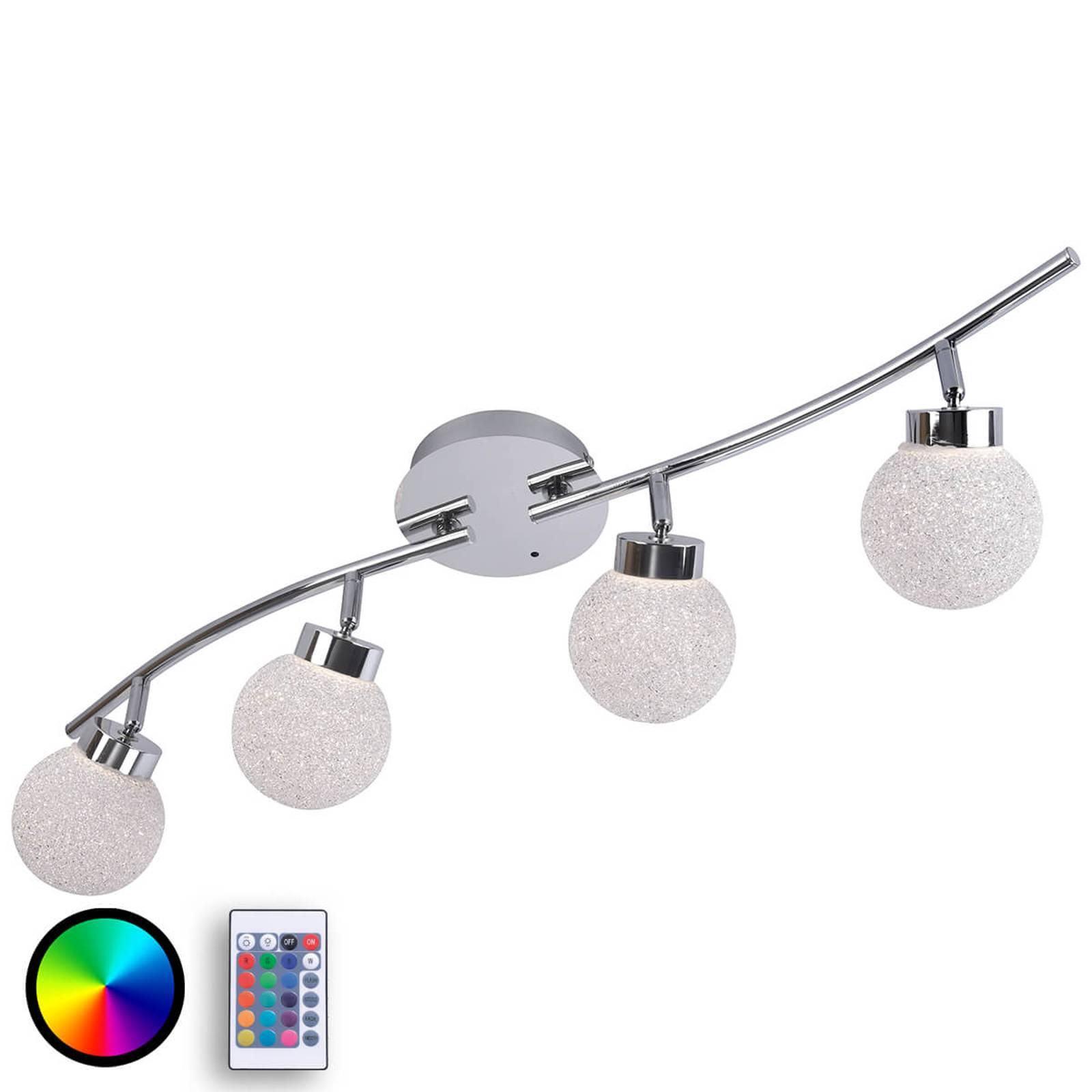 Glanzende RGBW LED plafondlamp Miko met AB