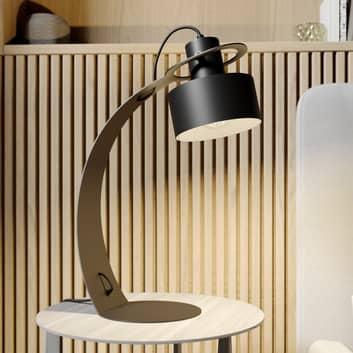 Stolní lampa Rif v kovu, černá