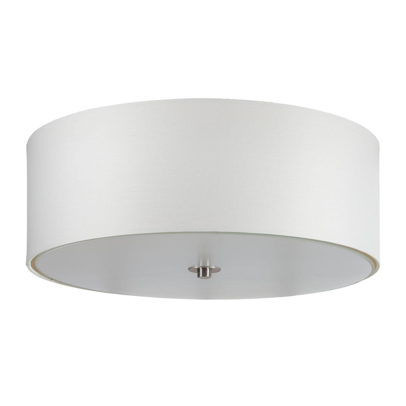 Lucande Patrik textiel-plafondlamp Ø48cm crème