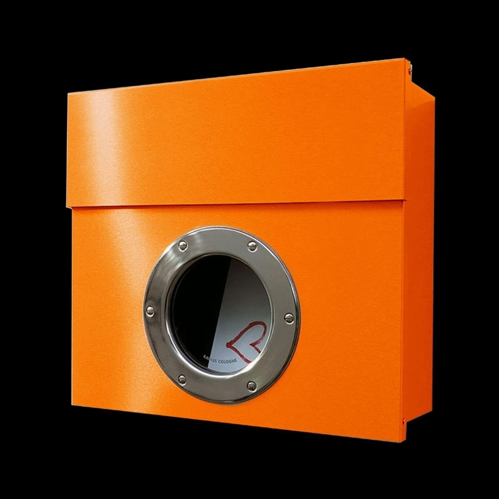 Postkasse Letterman I med utpreget design, oransje