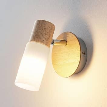 Drewniany spot Krzysztof, żarówka LED