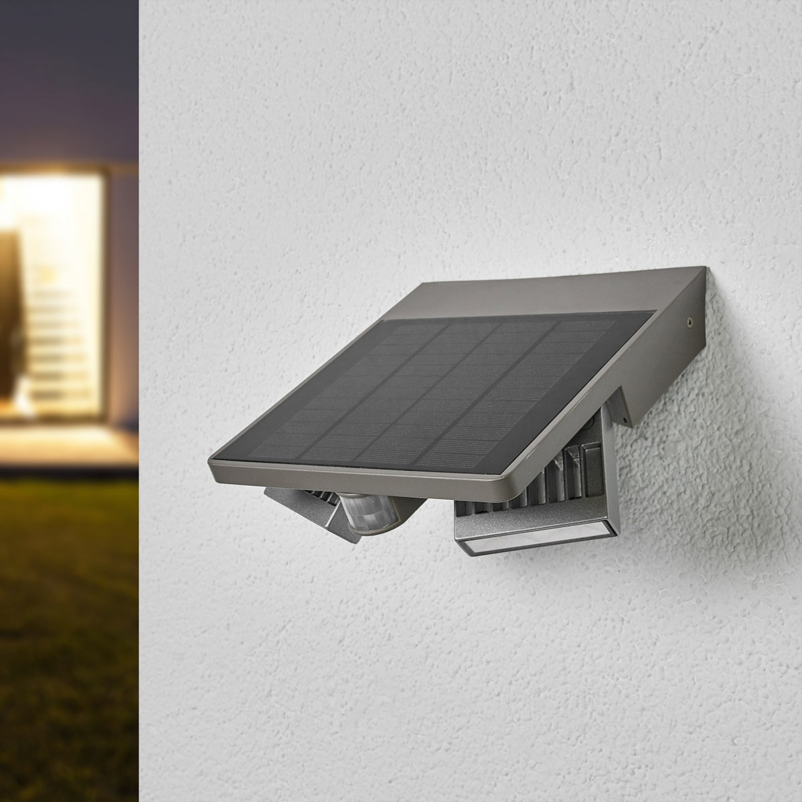 LED-outdoor-wandlamp Ghost Solar, bewegingssensor