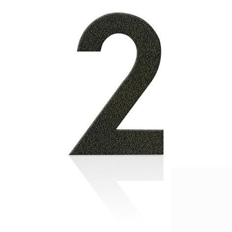 Gatenummer i rustfritt stål i mokkabrunt, 0-9
