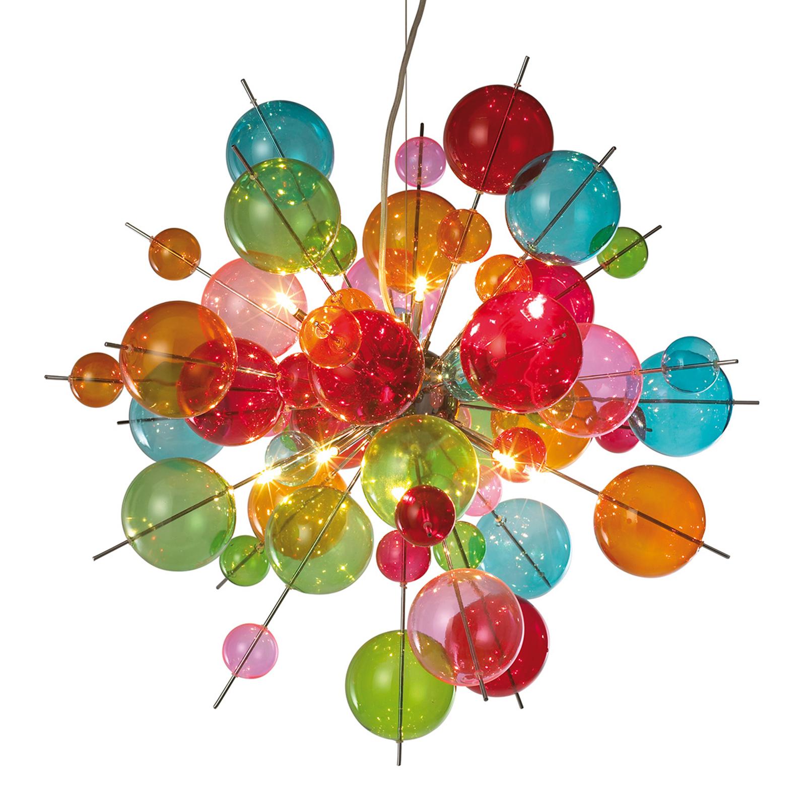 Kolorowa szklana lampa wisząca Aurinia