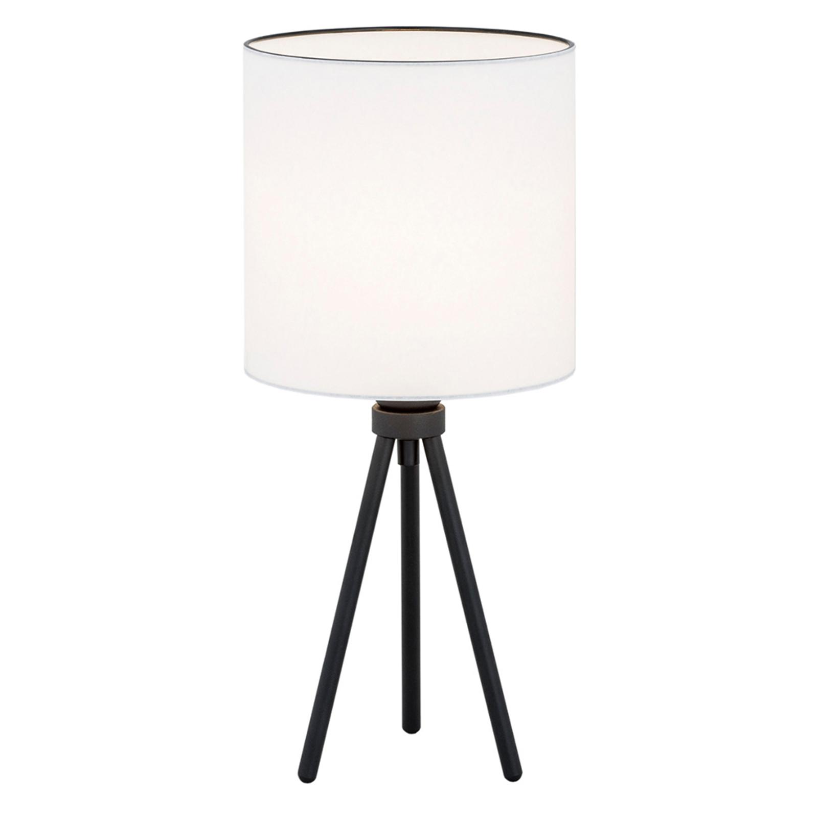 Lampa stołowa Harris, trójnóg, czarna/biała