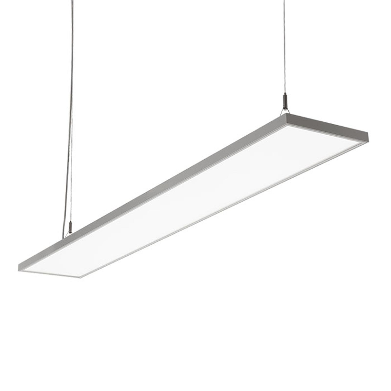 Lampa wisząca LED C95-P, srebrnoszara, 149,4 cm