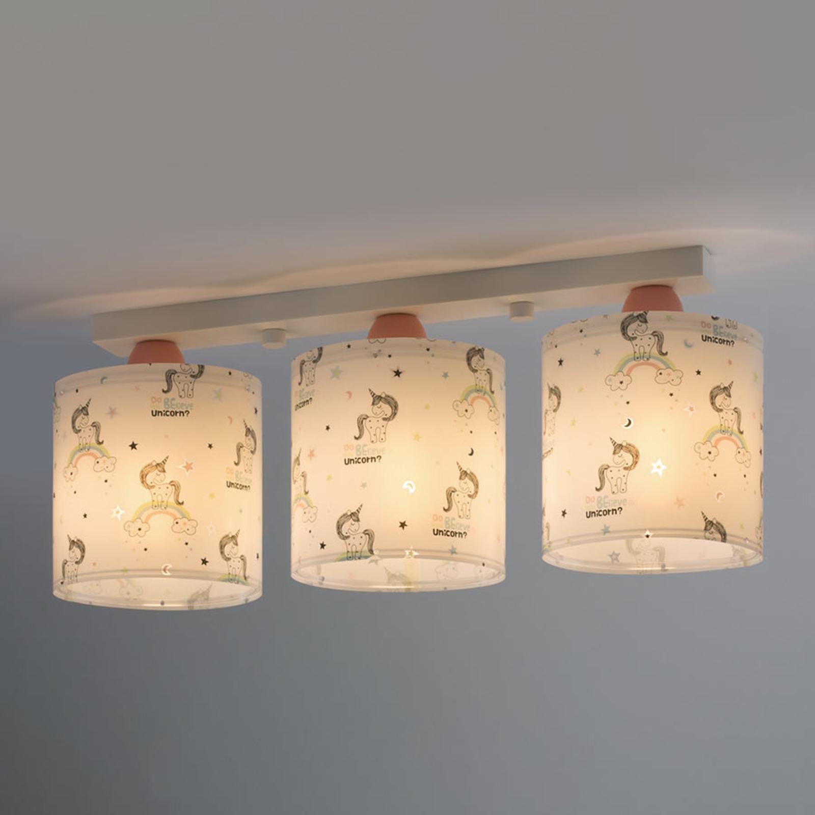 Plafondlamp Unicorns 3-lamps