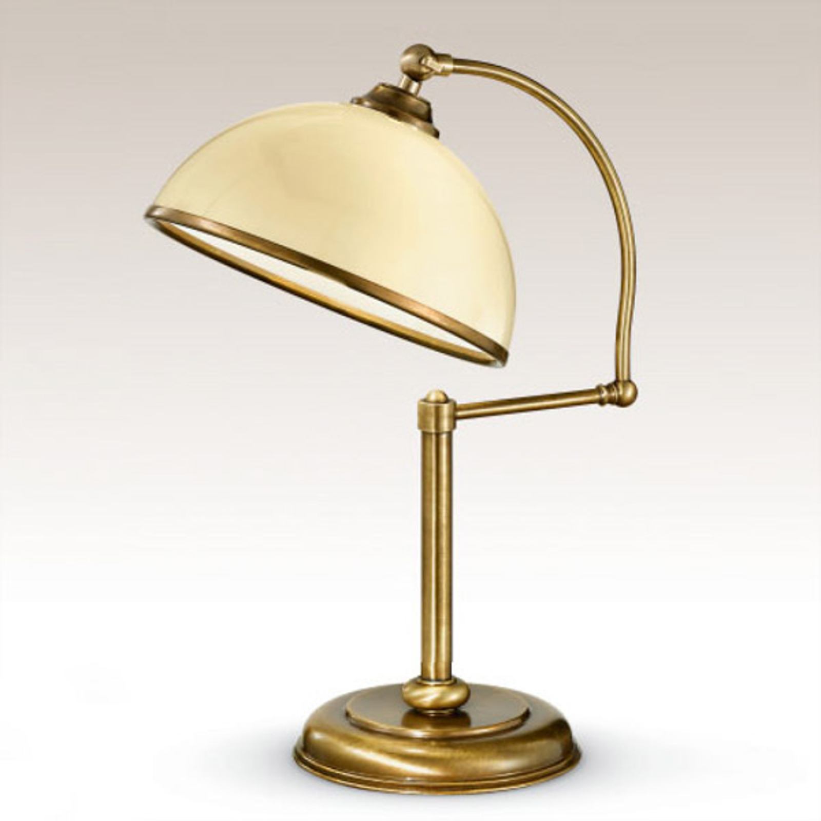 Riktbar bordslampa La Botte, elfenbensvit