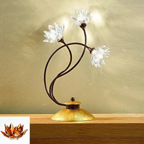 Blommig bordslampan Fiorella