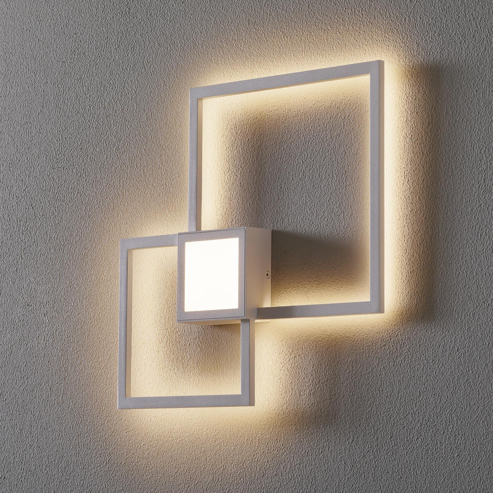 Mural LED-vegglampe, kantet