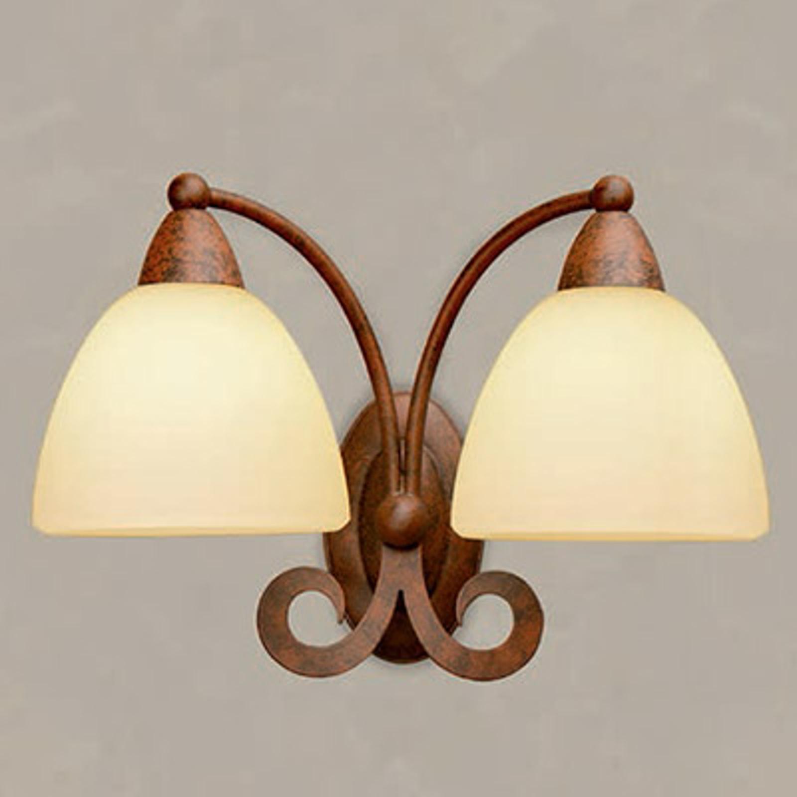 Applique Ginevra à deux lampes