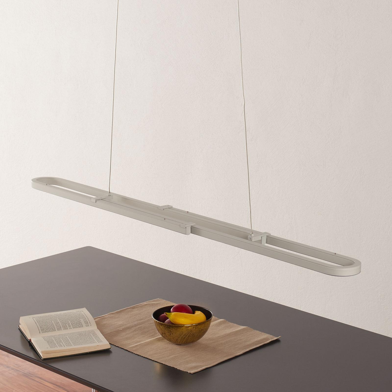 LED-Pendelleuchte Marga, Länge variabel, weiß