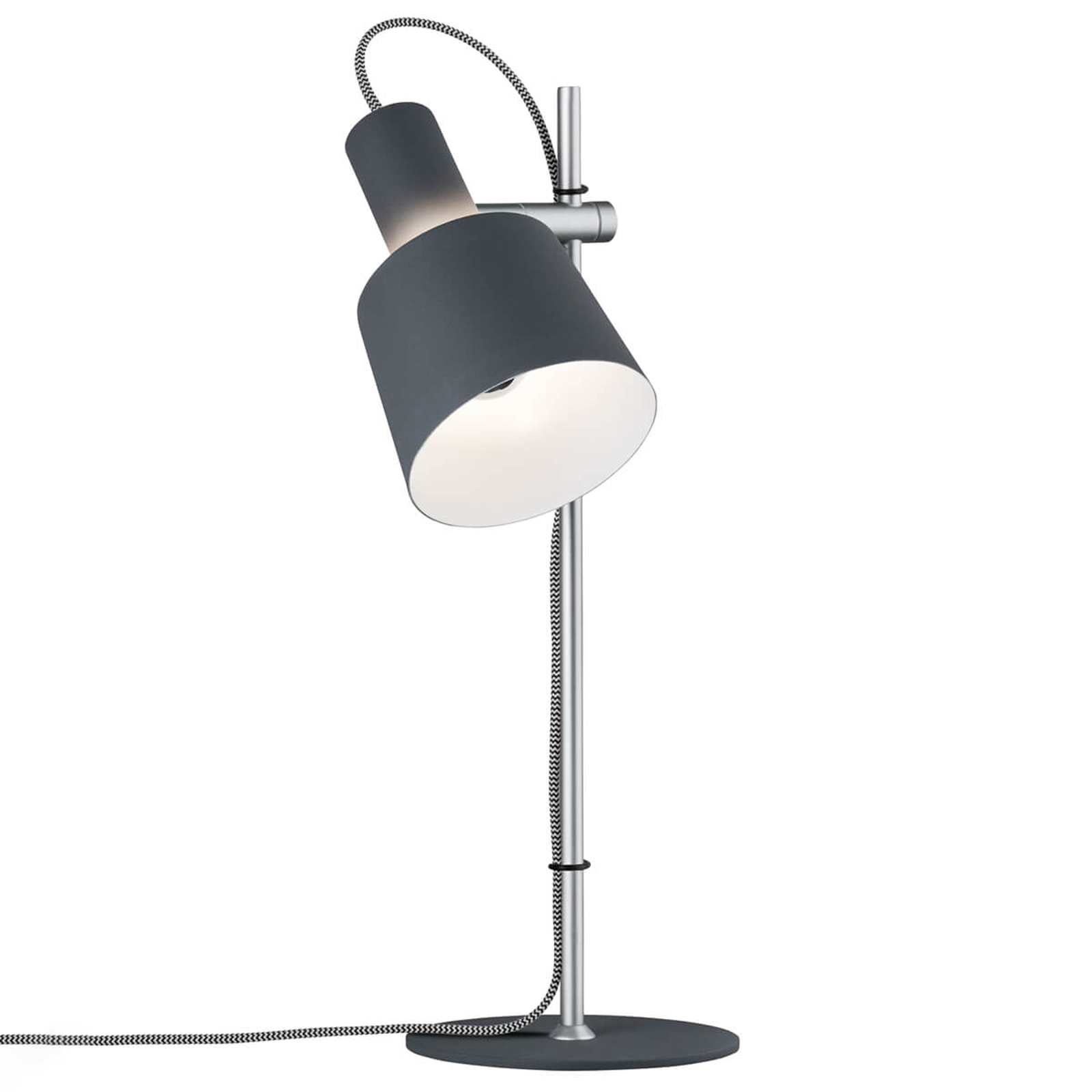 Lampe à poser moderne Haldar en gris foncé