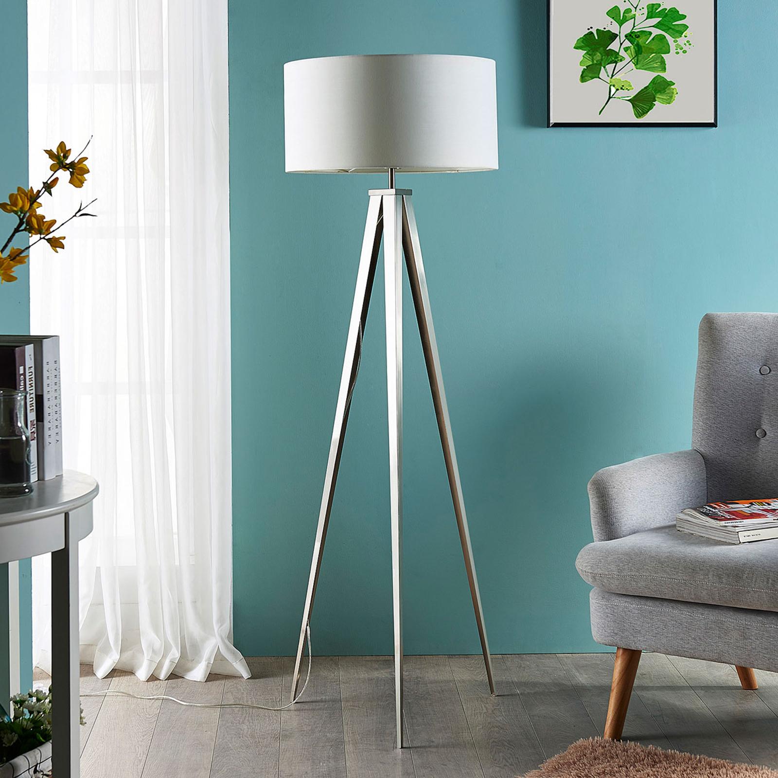 Piacevole lampada da terra Benik con treppiede