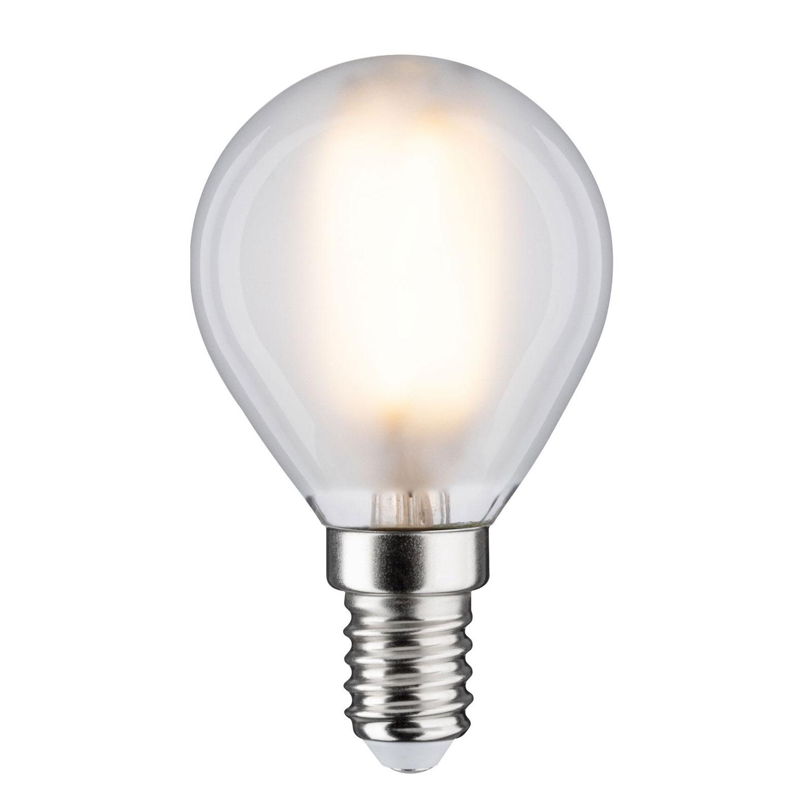 LED-pære E14 5 W dråpe 2700 K matt, dimbar