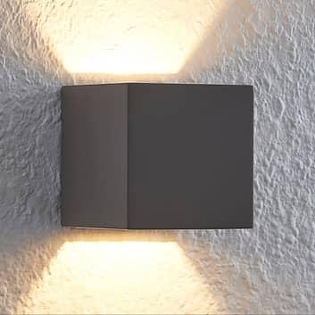 Lindby Quaso LED nástěnné svítidlo z betonu, šedé