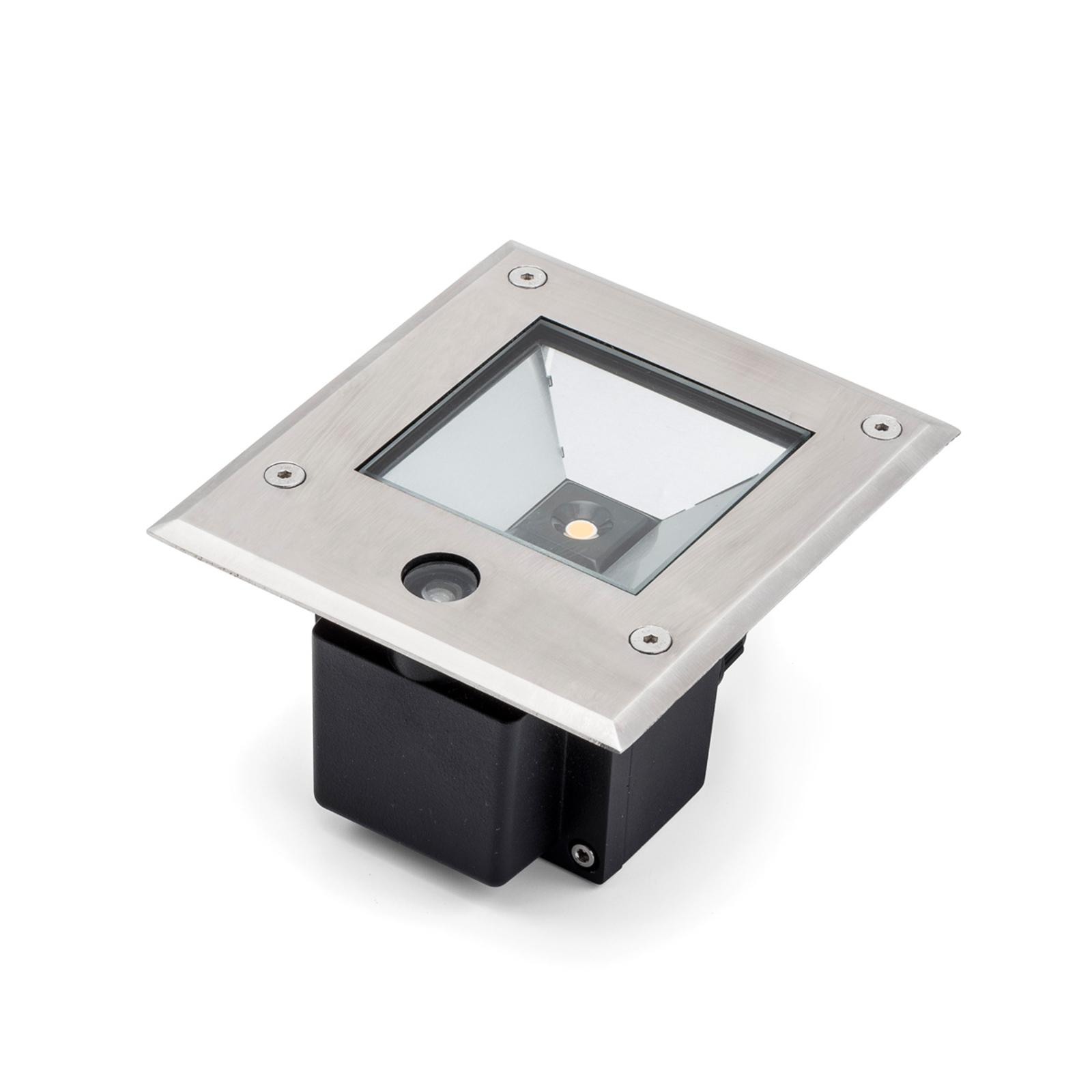 LED-maaspotti Dale 6W, hämärätunnistin
