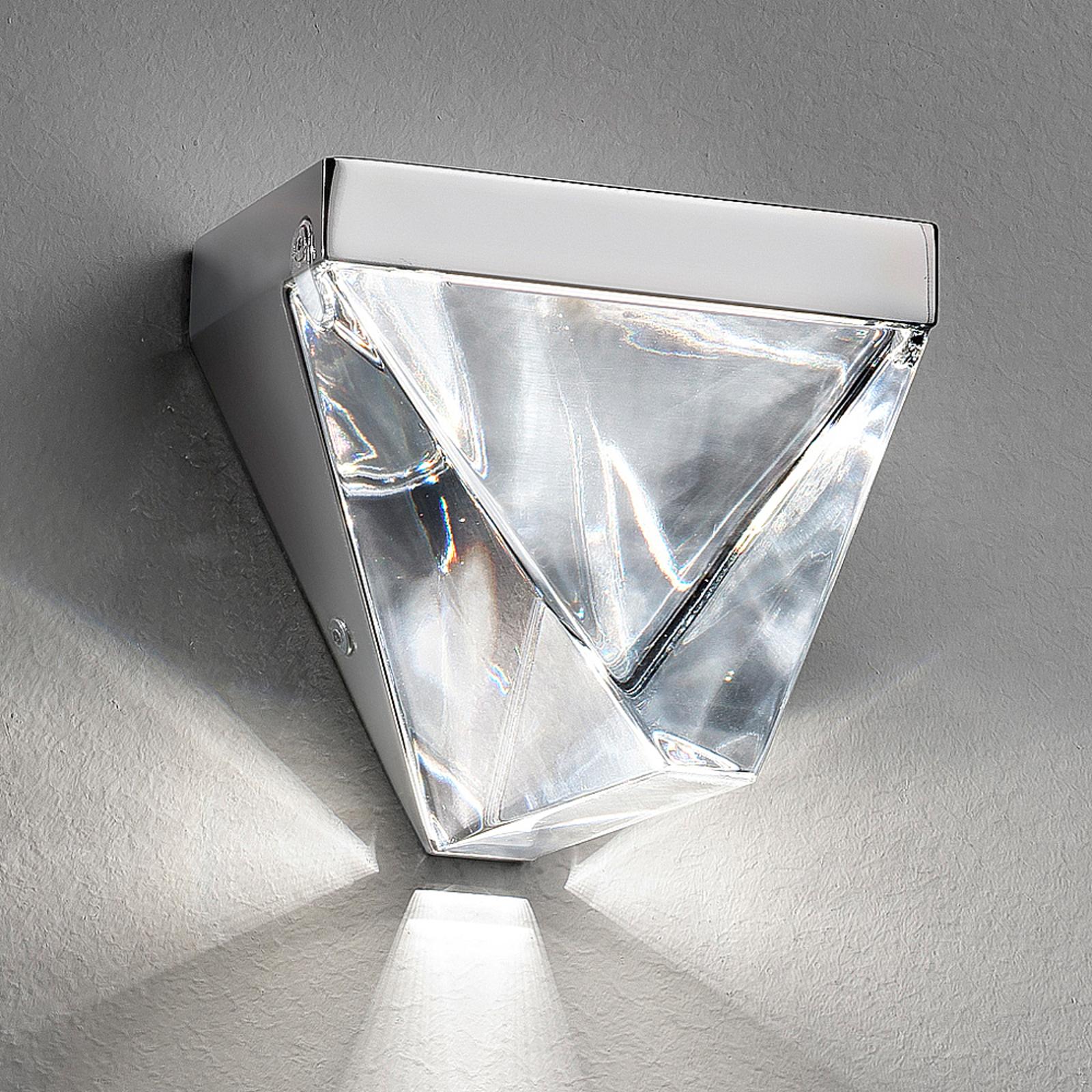 Fabbian Tripla - Kristall-LED-Wandleuchte, alu
