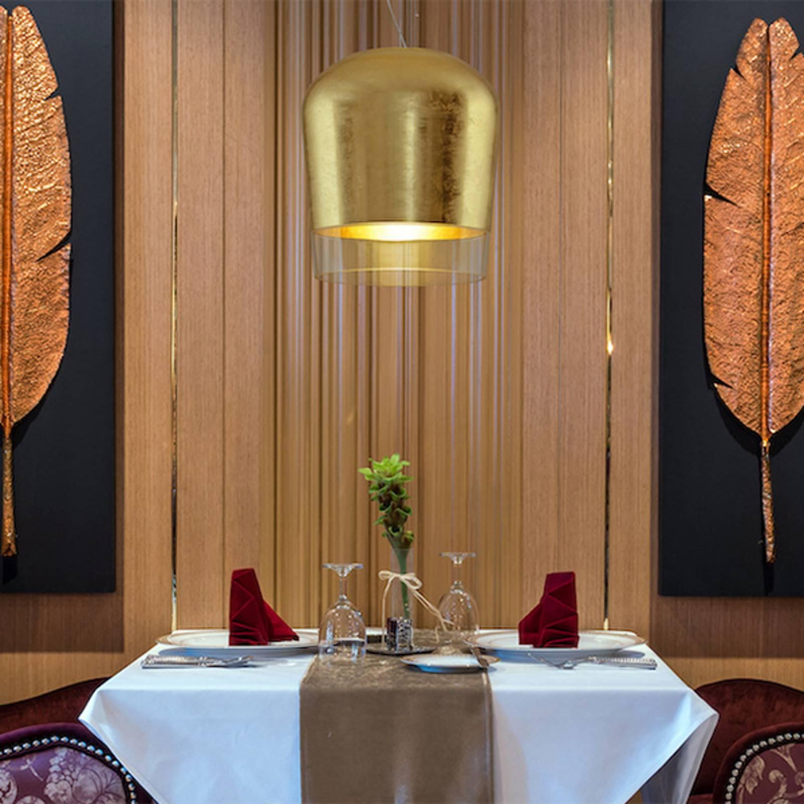 Casablanca Syss hanglamp 1-lamp goud Ø 28cm
