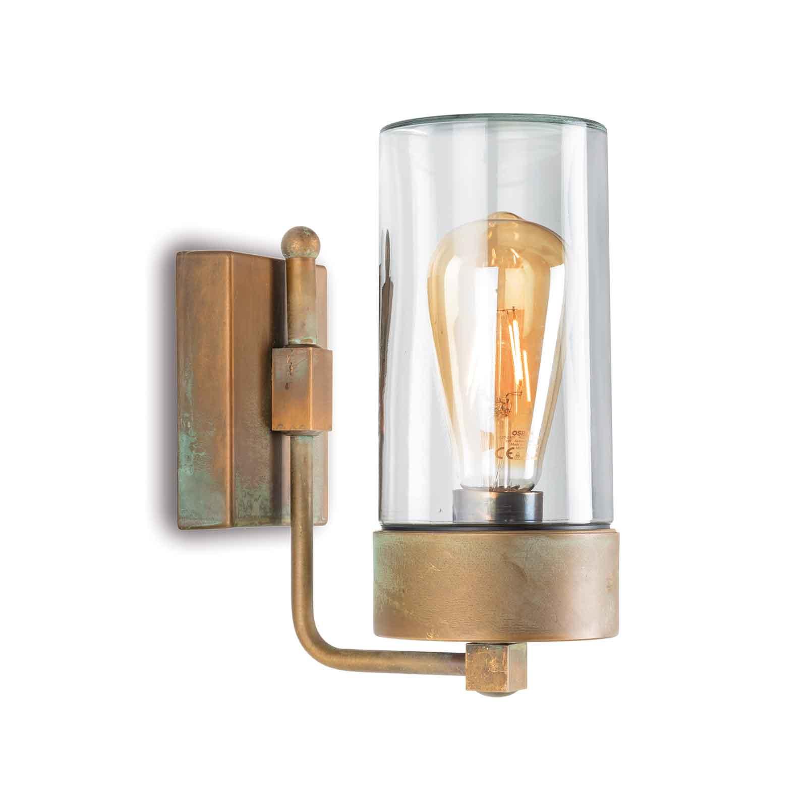 Buitenwandlamp Silindar 3390,messing antiek/helder