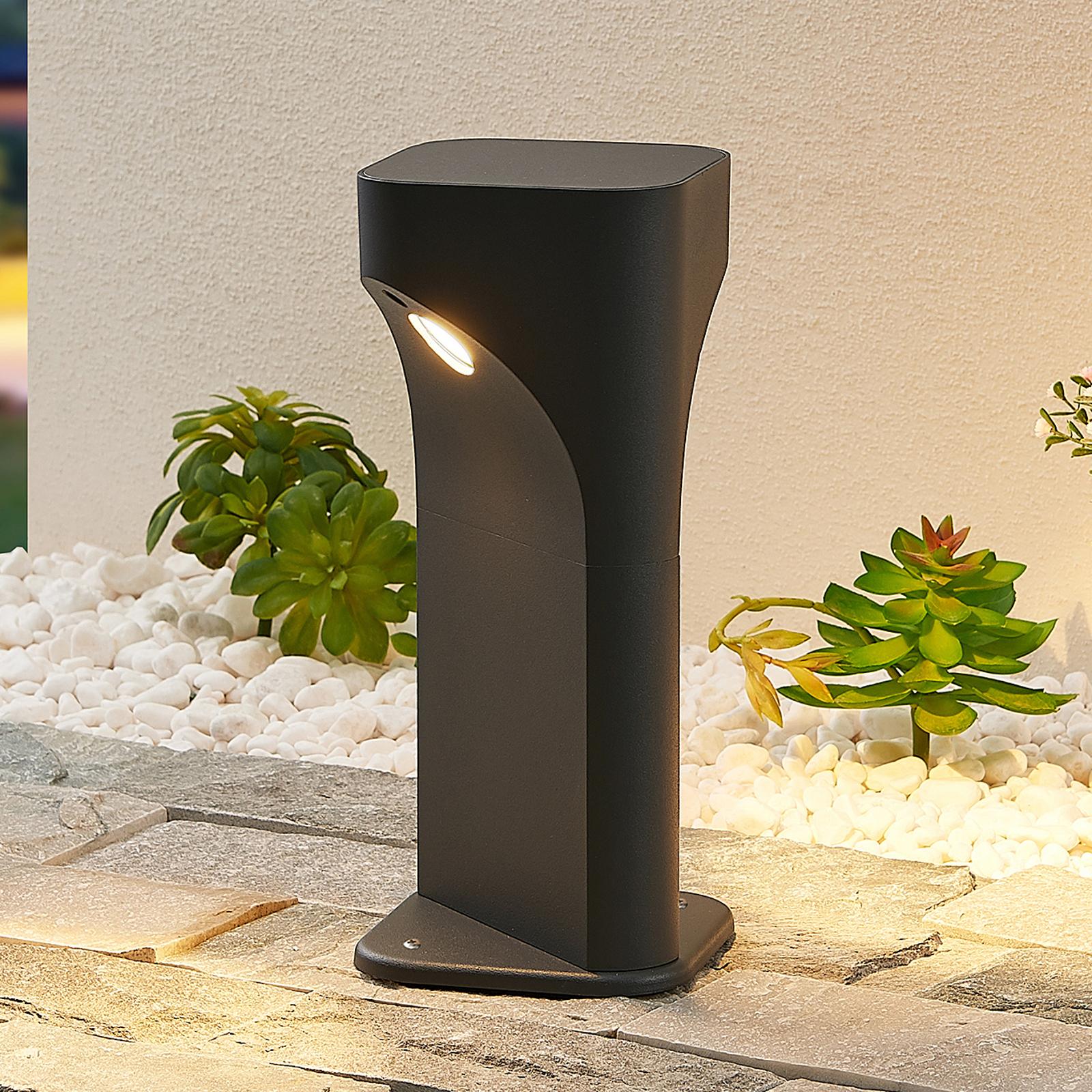 Lucande Valdeta lampa cokołowa LED, wysokość 30 cm
