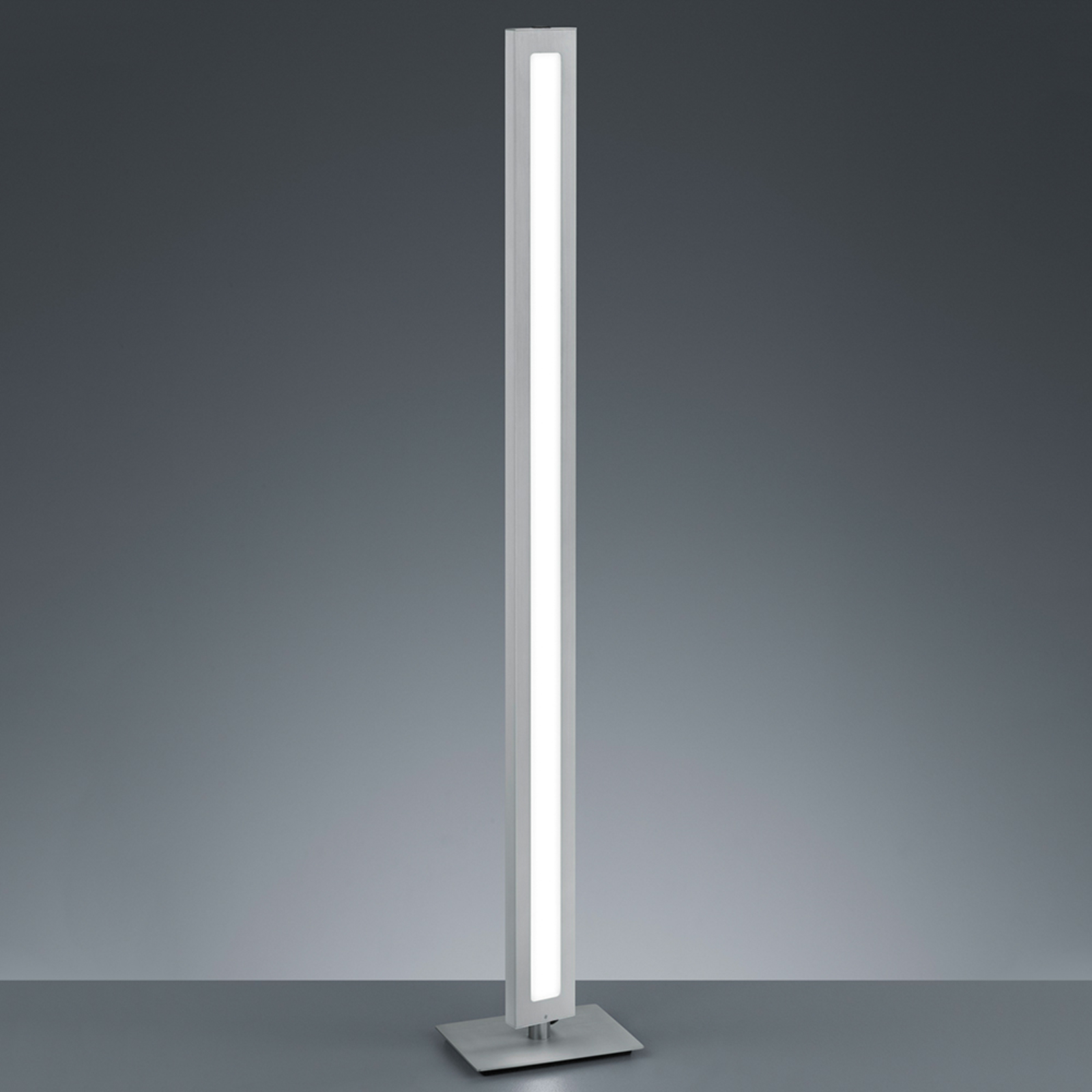 Puristisk designet LED-stålampe Silas
