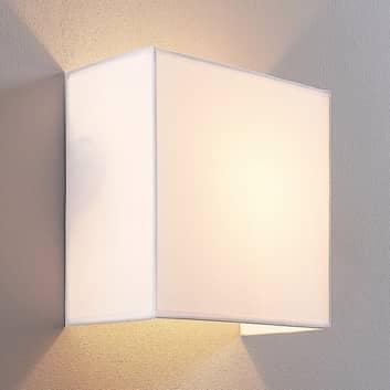 Textilní lampa Adea, 25 cm, čtvercová, bílá
