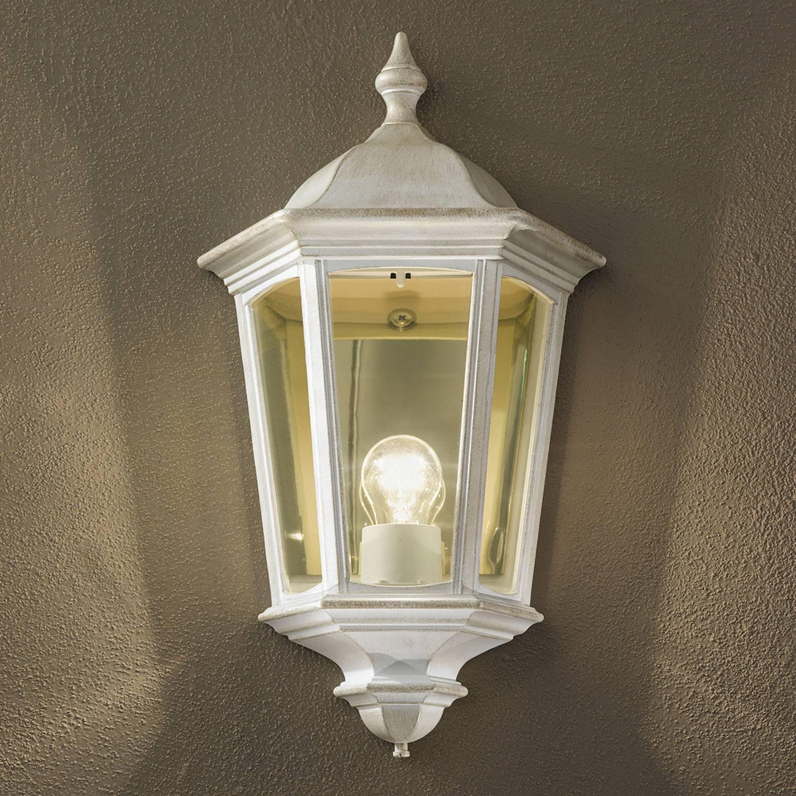 Buitenwandlamp Puchberg, direct, wit-goud