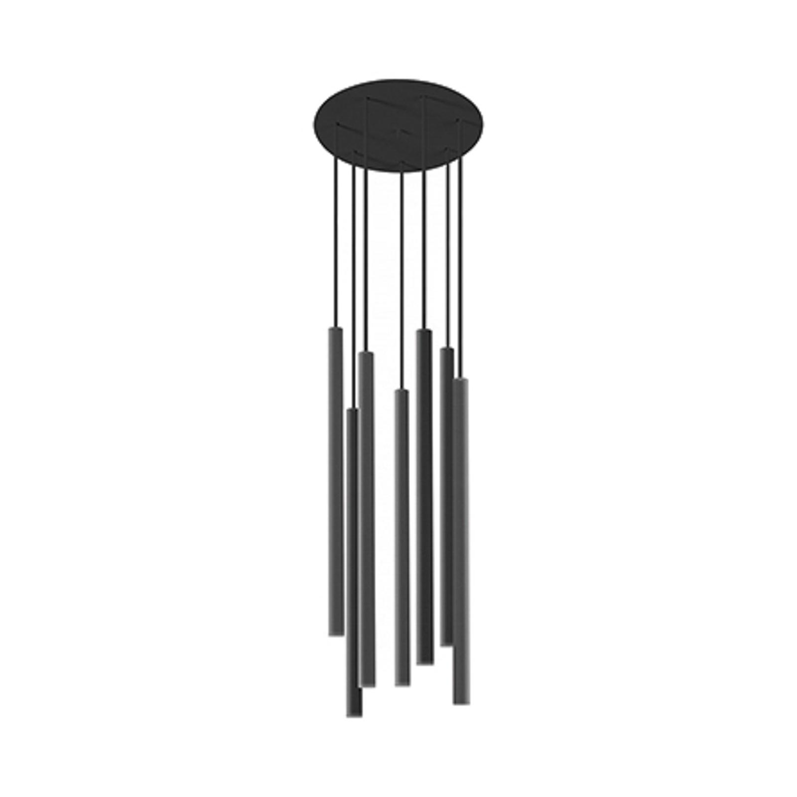 Suspension Laser, à 7 lampes, noire