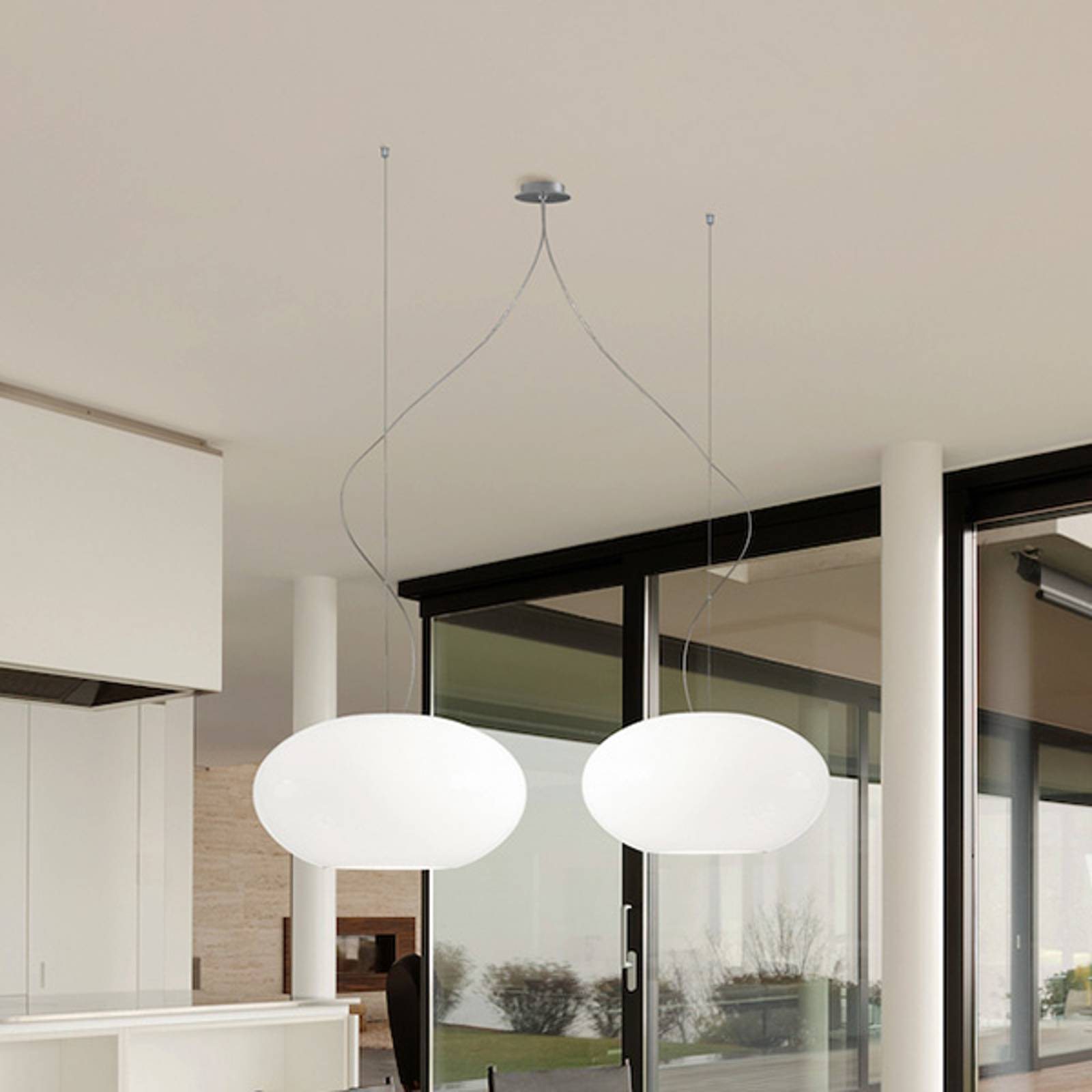 Designerska lampa wisząca AIH 28cm biała matowa