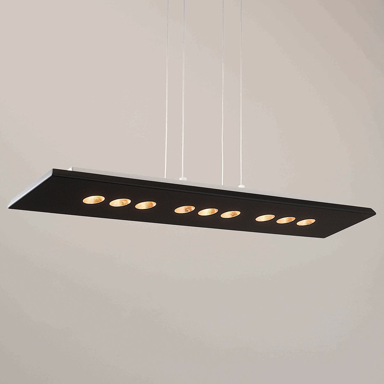 ICONE Confort LED hanglamp in zwart-goud