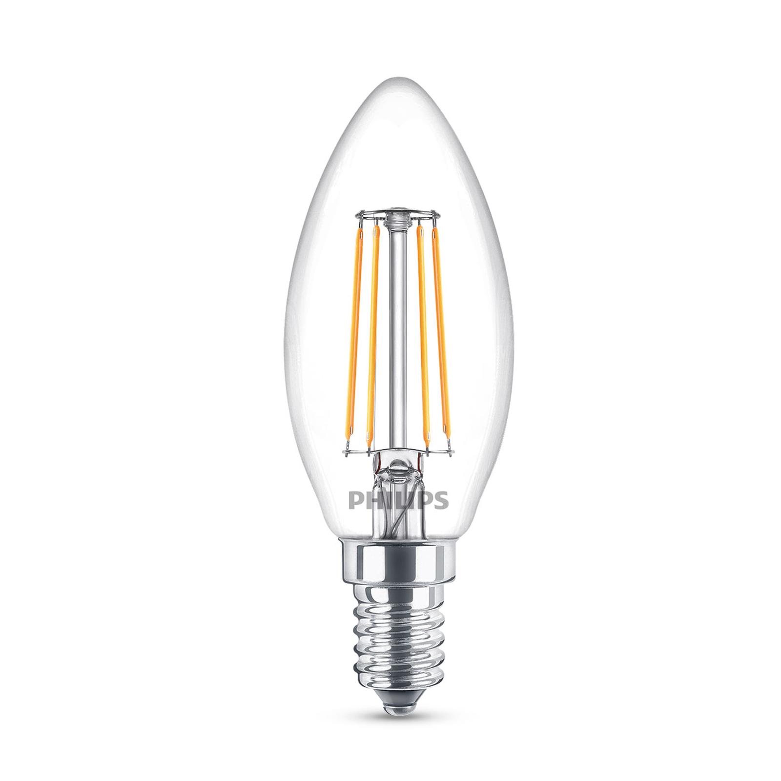 Philips Classic LED-Lampe E14 B35 4,3W klar 4.000K