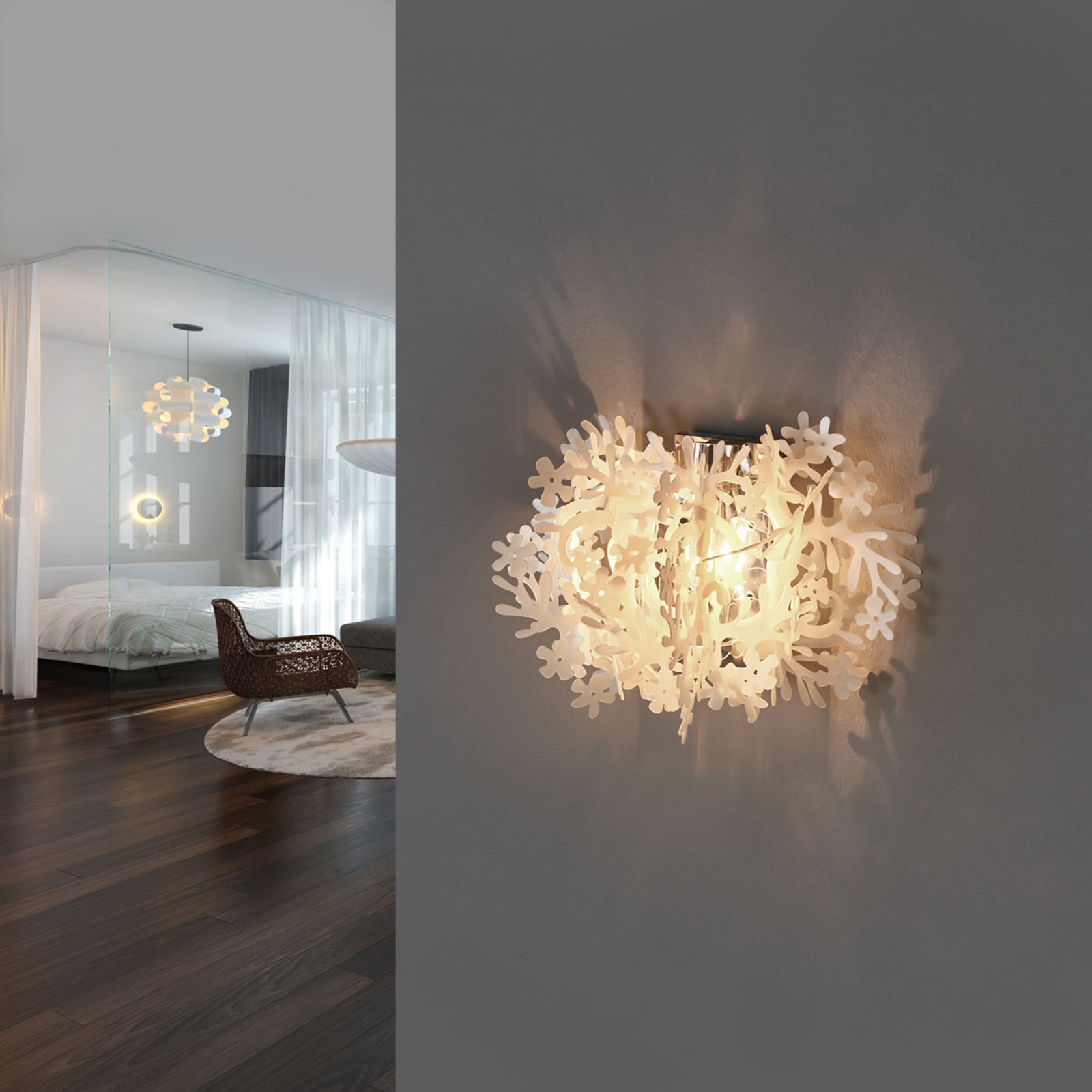 Slamp Fiorella Mini - Design-Wandlampe