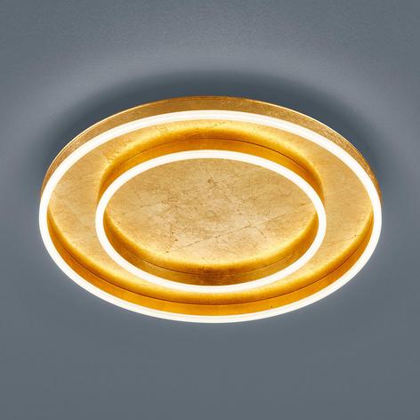 Helestra Sona LED-Deckenleuchte dimmbar Ø60cm gold