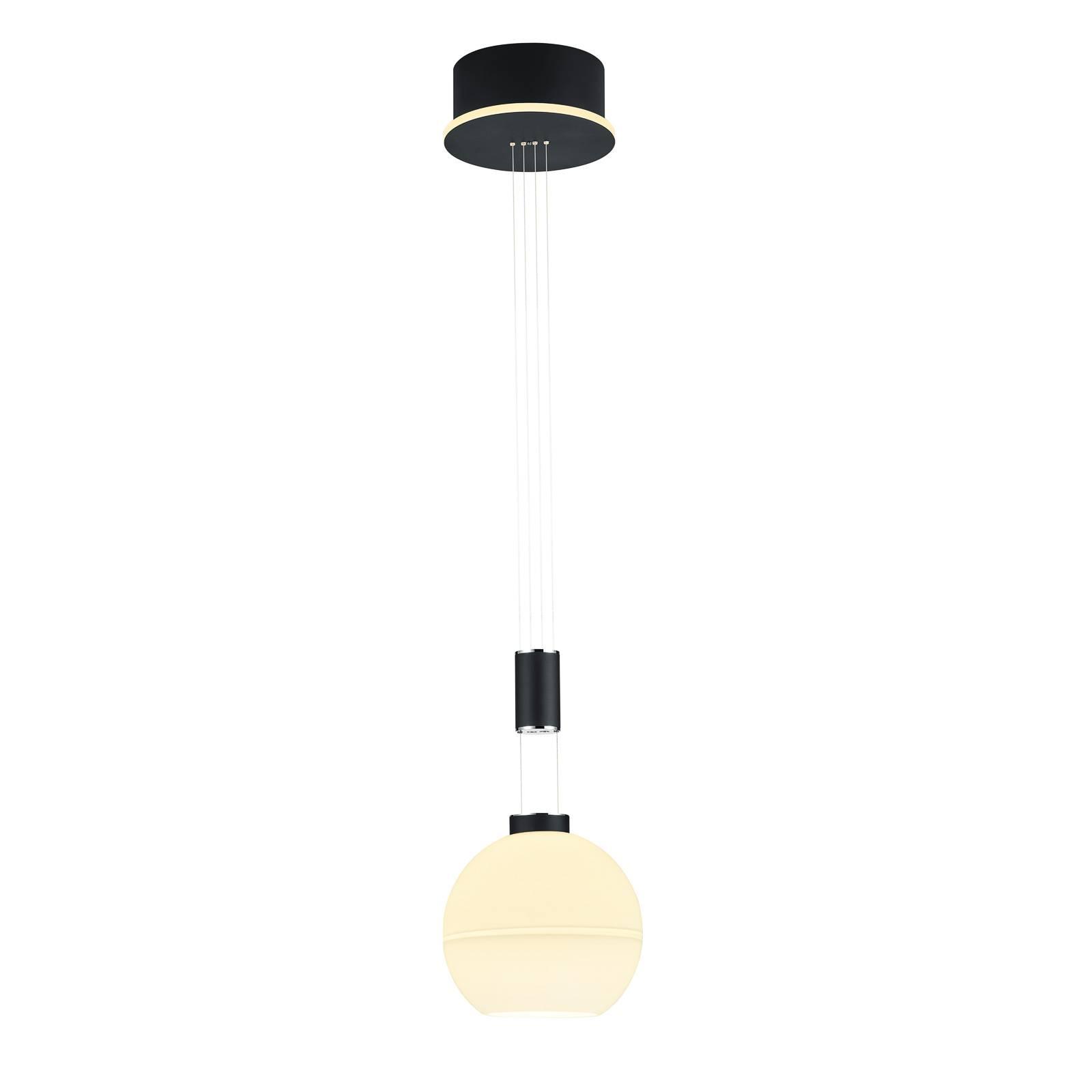 B-Leuchten Sam LED glazen hanglamp, zwart