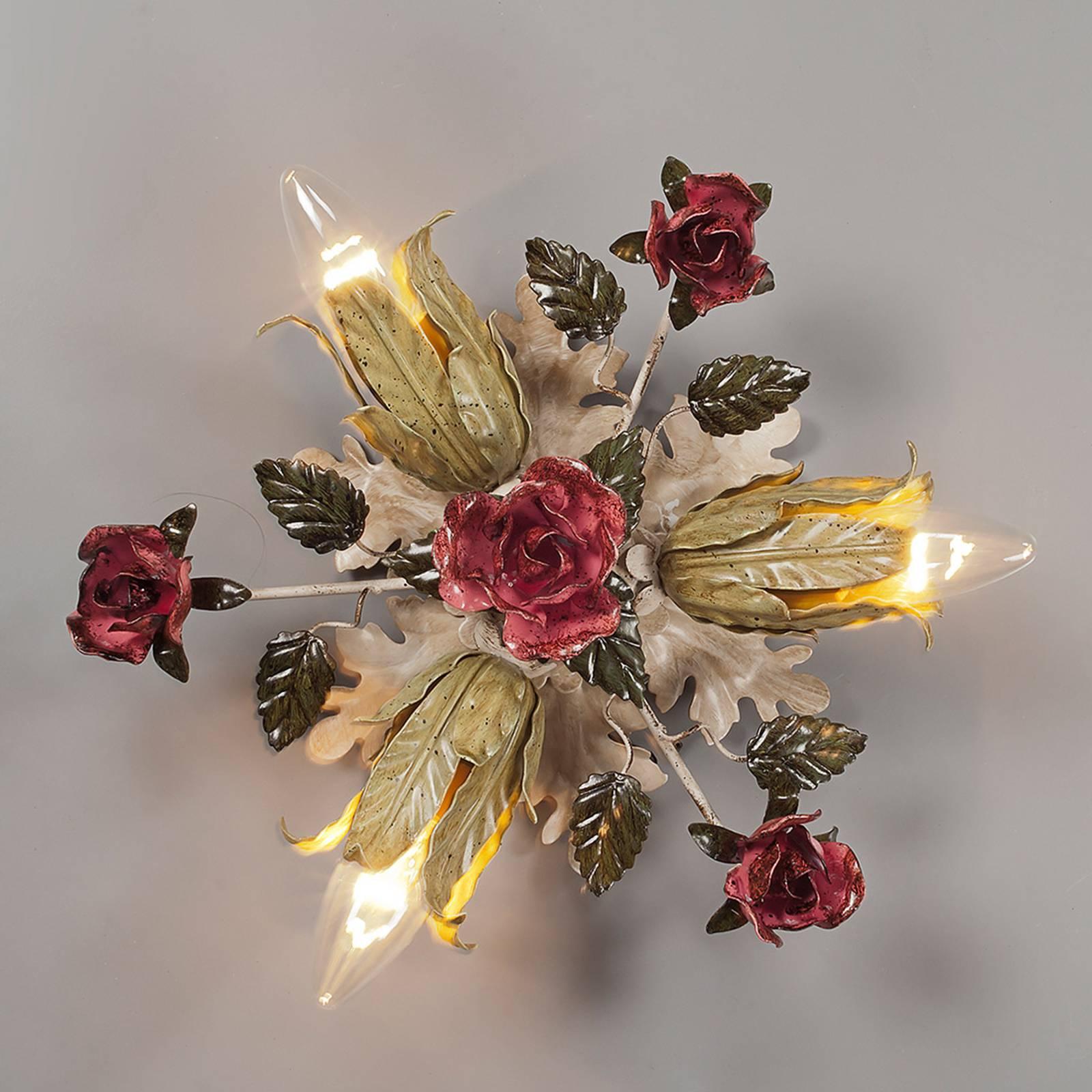 Trzypunktowa lampa sufitowa w styl. florent. FIAMA