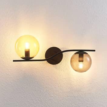 Lindby Avalyn væglampe, flerfarvet, sort
