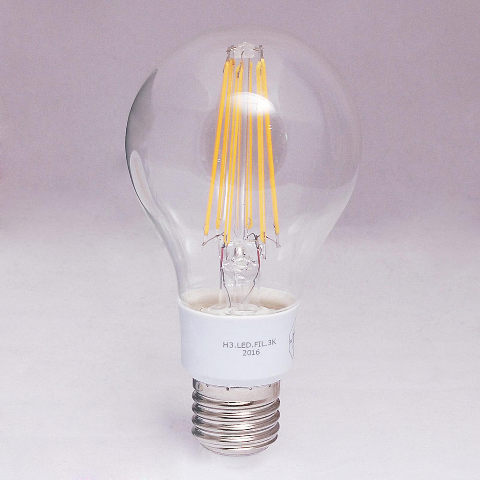 E27 10W LED-Filamentlampe med 1.500lm - varmhvit