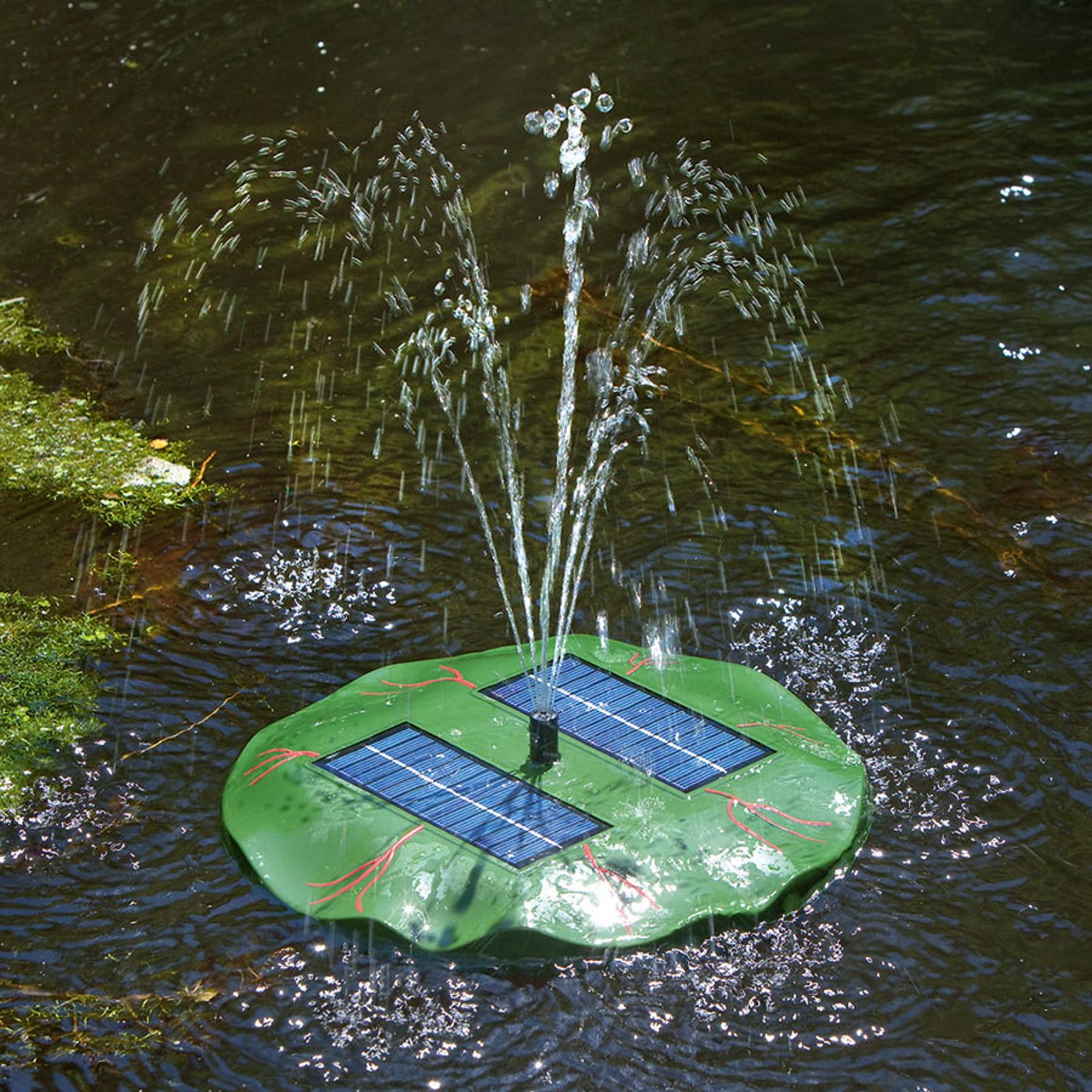 Seerose - schwimmende Solar Teichpumpe