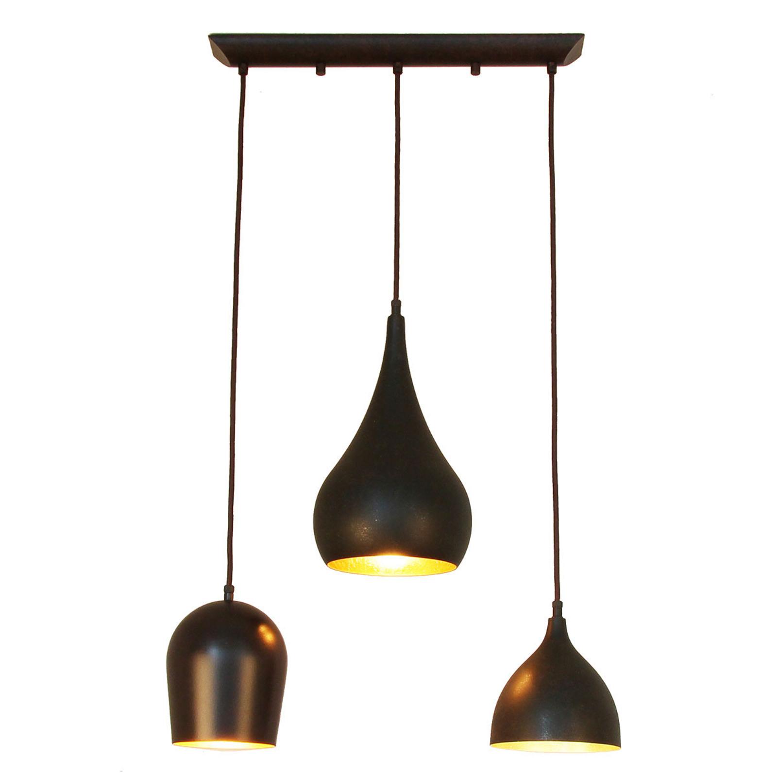 Menzel Solo hængelampe, 3 lyskilder, aflang