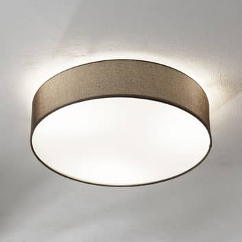Lámpara de techo Pasteri de textil, marrón