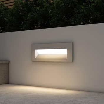 Arcchio Javis LED-innfellingslampe, riflet, sølv